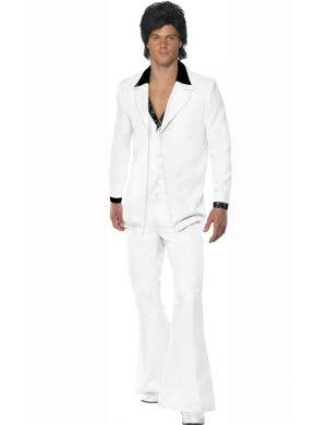 Men's 70's Disco Suit Men's Costume Main Image