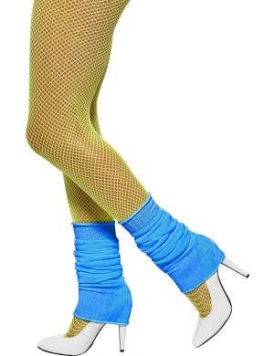 Bright Blue Women's 1980's Costume Leg Warmers