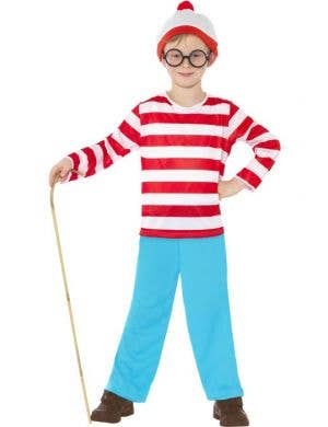 Boy's Where's Wally Costume Front View