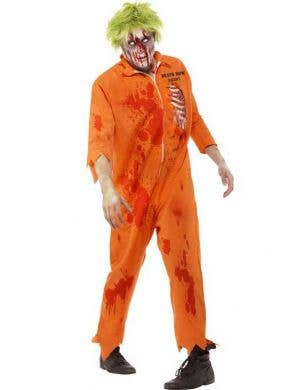 Menu0027s Zombie Prisoner Orange Jumpsuit Costume ...  sc 1 st  Heaven Costumes : womens orange prison jumpsuit costume  - Germanpascual.Com