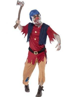 Men's Undead Zombie Dwarf Halloween Costume Front