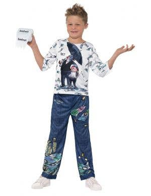 David Walliams Deluxe Billionaire Boy Kid's Fancy Dress Costume