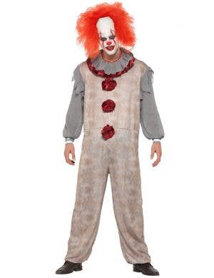 Vintage Horror Movie Clown Men's Halloween Costume