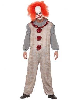 Vintage Horror Movie Clown Men's Halloween Costume
