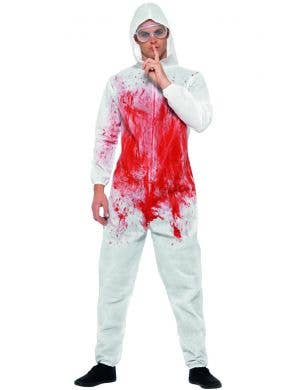 Bloody Forensic Men's Halloween Fancy Dress Costume