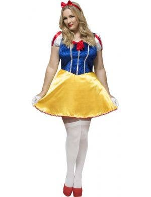 Sexy Plus Size Snow White Women's Costume Front View