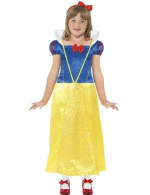 Girl's Snow White Princess Fancy Dress Costume Front View