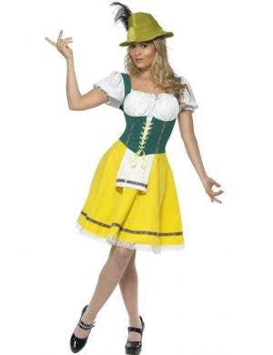Oktoberfest Women's Green and Yellow German Costume