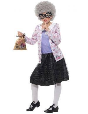 David Walliams Deluxe Gangsta Granny Girl's Fancy Dress Costume