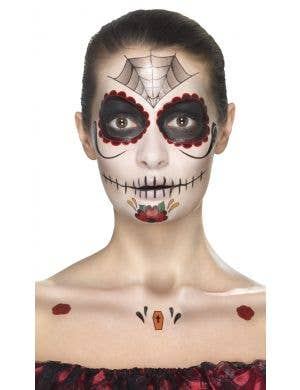 Women's Sugar Skull Day of the Dead Costume Makeup Kit