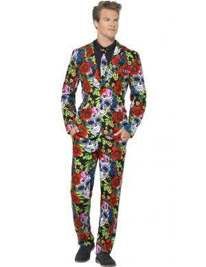Day of the Dead Men's Stand Out Dress Suit Front
