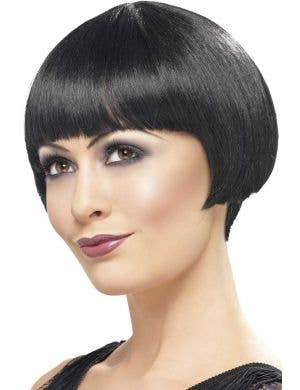 Women's Short Black 1920's Bob Cut Flapper Wig Main Image
