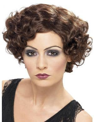 Flirty Flapper Brown 1920's Women's Costume Wig