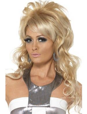 1960's Beauty Queen Women's Curly Blonde Costume Wig