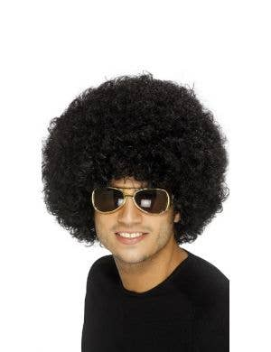 Funky Curly Black 1970's Afro Adults Unisex Costume Wig
