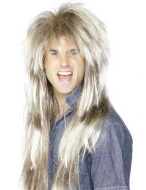 80's Mega Mullet Men's Costume Wig