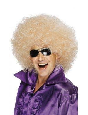 Mega Huge Blonde 1970's Unisex Afro Costume Wig