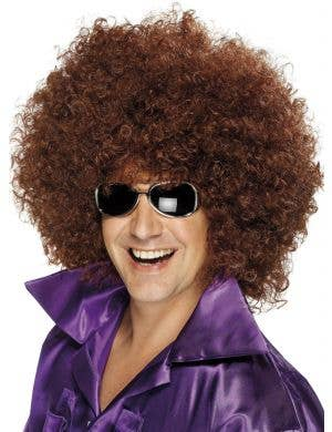 Mega Huge Brown 1970's Unisex Afro Costume Wig
