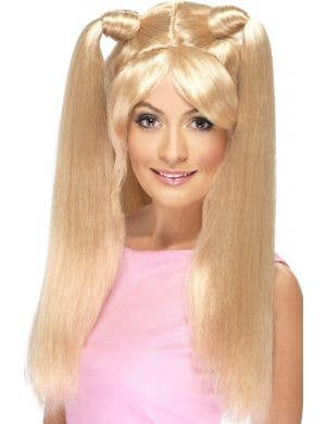Long Blond Piggy Tales Baby Spice Dress Up Costume Wig