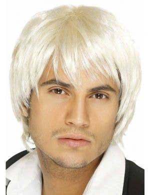 90's Boy Band Light Blonde Costume Wig
