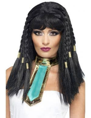 Goddess Cleopatra Women's Long Black Costume Wig Main Image