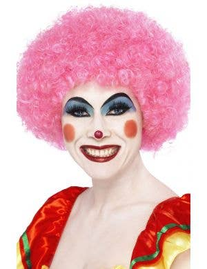 Pink Afro Wig Adult's Clown Costume Accessory Main Image