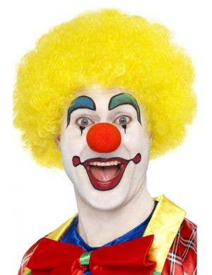 Yellow Afro Adults Novelty Clown Costume Wig