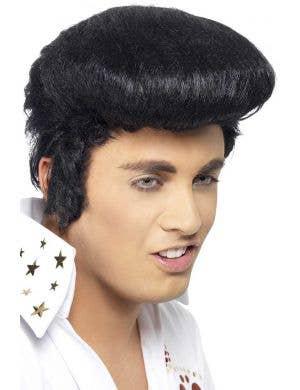 Men's Black Elvis Presley Pompadour Costume Wig