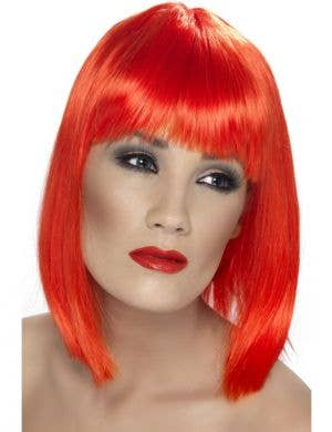 Glam Short Red Costume Wig