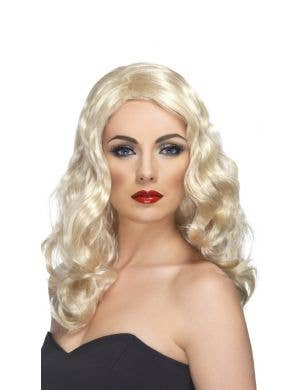 Glamorous Long Blonde Wavy Women's Costume Wig