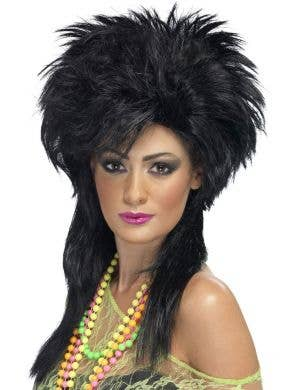 Groovy Punk Chick Black Wig