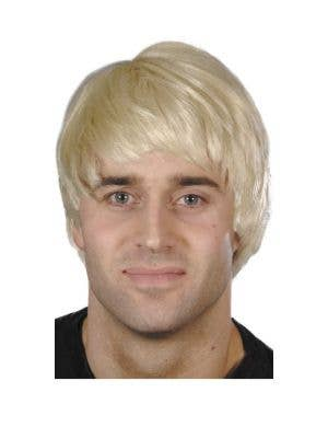 Dashing Short Blonde Men's Costume Wig Accessory