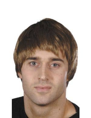 Basic Short Brown Men's Costume Wig