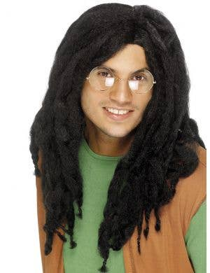 Jamaican Men's Long Black Dreadlocks Costume Wig