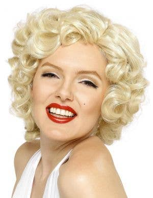 Marilyn Monroe Women's Curly Blonde Costume Wig