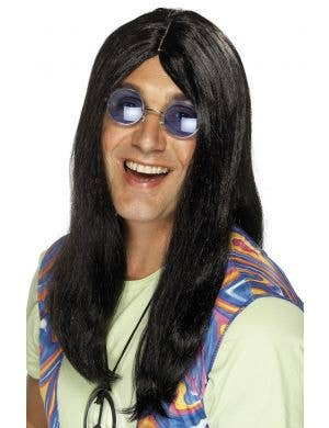 Neil Long Black Hippy Wig