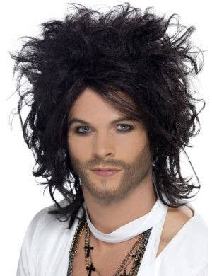 Sex God Men's Black Punk Rocker Costume Wig