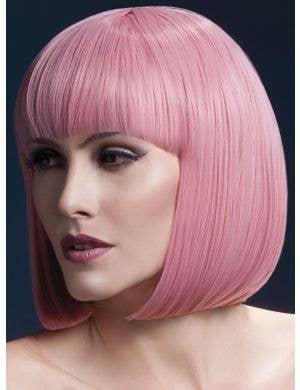 Elise Deluxe Heat Resistant Pale Pink Women's Bob Wig