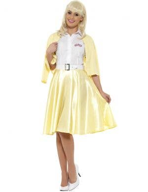Women's Yellow Sandy Costume from Grease - Front View