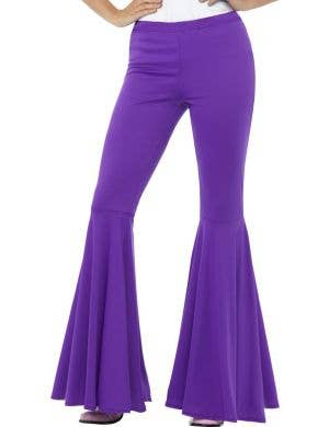 Flared 1960's Women's Purple Hippie Leggings