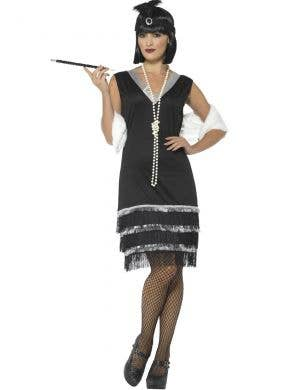 1920's Ritzy Black Flapper Women's Costume