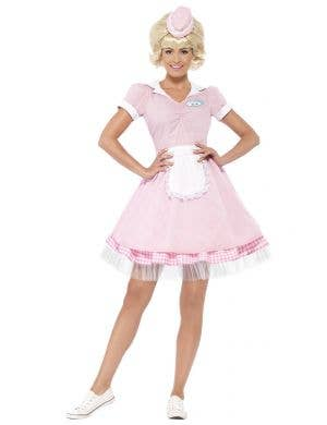 Women's 1950's Soda Pop Diner Girl Costume Front View