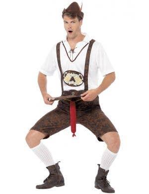 Brad Wurst Funny German Lederhosen Oktoberfest Costume Image 1