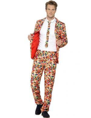 Men's Candy Printed Stand Out Side Costume Front View