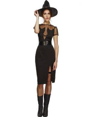 Sexy Black Cat Witch Halloween Costume Main Image