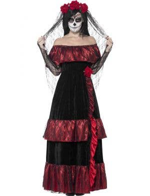 Day Of The Dead Bride Women's Sugar Skull Costume Main Image