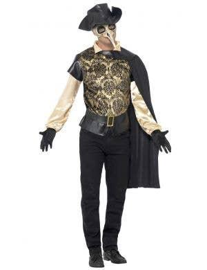 Men's Venetian Plague Doctor Masquerade Costume Front