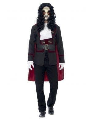 Men's Venetian Masquerade Fancy Dress Costume Front