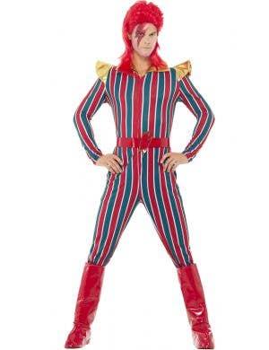 Men's David Bowie Space Superstar Pop Star Costume View 1