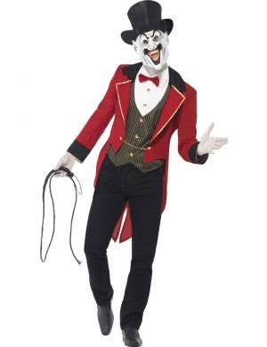 Men's Evil Ringmaster Halloween Fancy Dress Costume Front